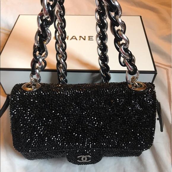148c7c9d9dab CHANEL Bags | Authentic Black Mini Swarovski Bag | Poshmark